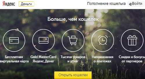 Сервис Яндекс.Деньги