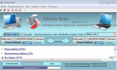 Процесс синхронизации данных