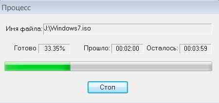 Процесс создания образа ОС Windows7