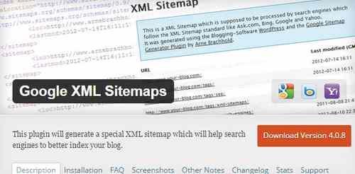 Плагин карты сайта для поисковых систем