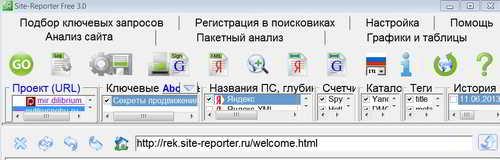 Программа Site-Reporter