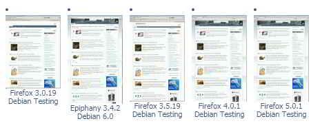 Скрины сайта в разных браузерах