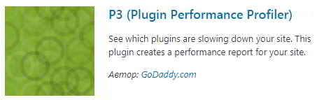 Плагин P3 (Plugin Performance Profiler)