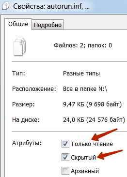 Атрибуты файлов