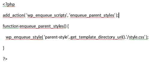 Код добавляем в functions.php