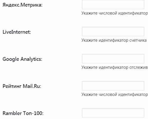 Счетчики аналитики турбо-страниц