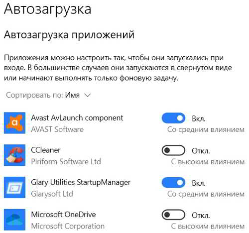 Автозапуск программ в Windows 10