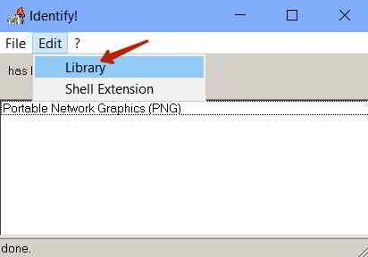 Библиотека расширений файлов