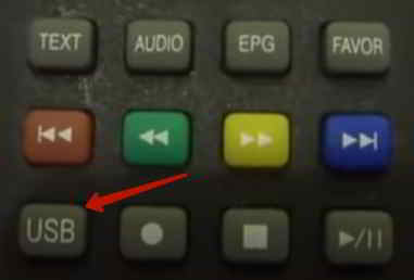 Кнопка USB для подключения флешки к телевизору